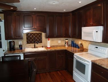 Dark Stained Kitchen Cabinets kitchen cabinets